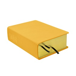 Large Hand-Bound Leather Quad - Buttercup Yellow - LDP-HB-LQ-BCY