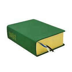 Large Hand-Bound Leather Quad - Emerald Green green lds scriptures, custom lds scriptures, green lds scripture, green quad,color quad scriptures,green quad scriptures