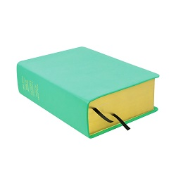 Large Hand-Bound Leather Quad - Light Turquoise turquoise scriptures, teal lds scriptures, custom lds scriptures, teal lds scripture, teal quad, color quad scriptures, teal quad scriptures