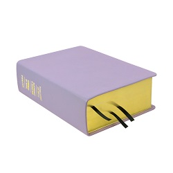 Large Hand-Bound Leather Quad - Lavender purple lds scriptures, custom lds scriptures, purple lds scripture, purple quad,color quad scriptures,purple quad scriptures