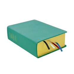 Large Hand-Bound Leather Quad - Teal Teal lds scriptures, custom lds scriptures, teal lds scripture, teal quad, color quad scriptures, teal quad scriptures