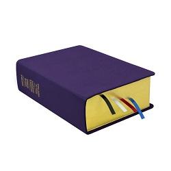 Large Hand-Bound Leather Quad - Violet purple lds scriptures, custom lds scriptures, purple lds scripture, purple quad,color quad scriptures,purple quad scriptures