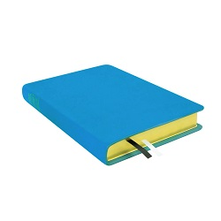 Large Hand-Bound Leather Triple - Aqua Blue blue lds scriptures, custom lds scriptures, blue lds scripture, blue triple combination,color triple combination scriptures,blue triple combination scriptures