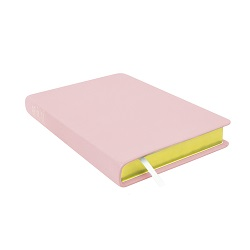 Large Hand-Bound Leather Triple - Blush Pink pink lds scriptures, custom lds scriptures, pink lds scripture, pink triple combination,color triple combination scriptures,pink triple combination scriptures