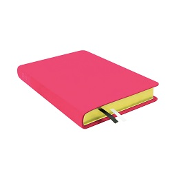 Large Hand-Bound Leather Triple - Bright Fuchsia pink lds scriptures, custom lds scriptures, pink lds scripture, pink triple combination,color triple combination scriptures,pink triple combination scriptures