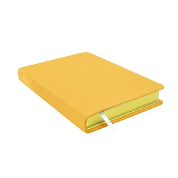 Large Hand-Bound Leather Triple - Buttercup Yellow yellow lds scriptures, custom lds scriptures, yellow lds scripture, yellow triple combination, mustard lds scriptures,color triple combination scriptures,yellow triple combination scriptures