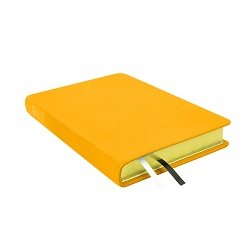 Large Hand-Bound Leather Triple - Canary Yellow yellow lds scriptures, custom lds scriptures, yellow lds scripture, yellow triple combination, mustard lds scriptures,color triple combination scriptures,yellow triple combination scriptures