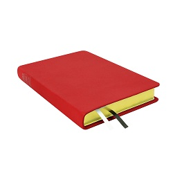 Large Hand-Bound Leather Triple - Cherry Red red lds scriptures, custom lds scriptures, red lds scripture, red triple combination,color triple combination scriptures,red triple combination scriptures