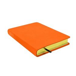 Large Hand-Bound Leather Triple - Marigold Orange orange lds scriptures, custom lds scriptures, orange lds scripture, orange triple combination,color triple combination scriptures,orange triple combination scriptures