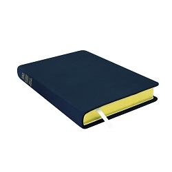 Large Hand-Bound Leather Triple - Navy Blue blue lds scriptures, custom lds scriptures, blue lds scripture, blue triple combination,color triple combination scriptures,blue triple combination scriptures