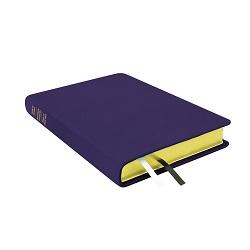 Large Hand-Bound Leather Triple - Violet purple lds scriptures, custom lds scriptures, purple lds scripture, purple triple combination,color triple combination scriptures,purple triple combination scriptures