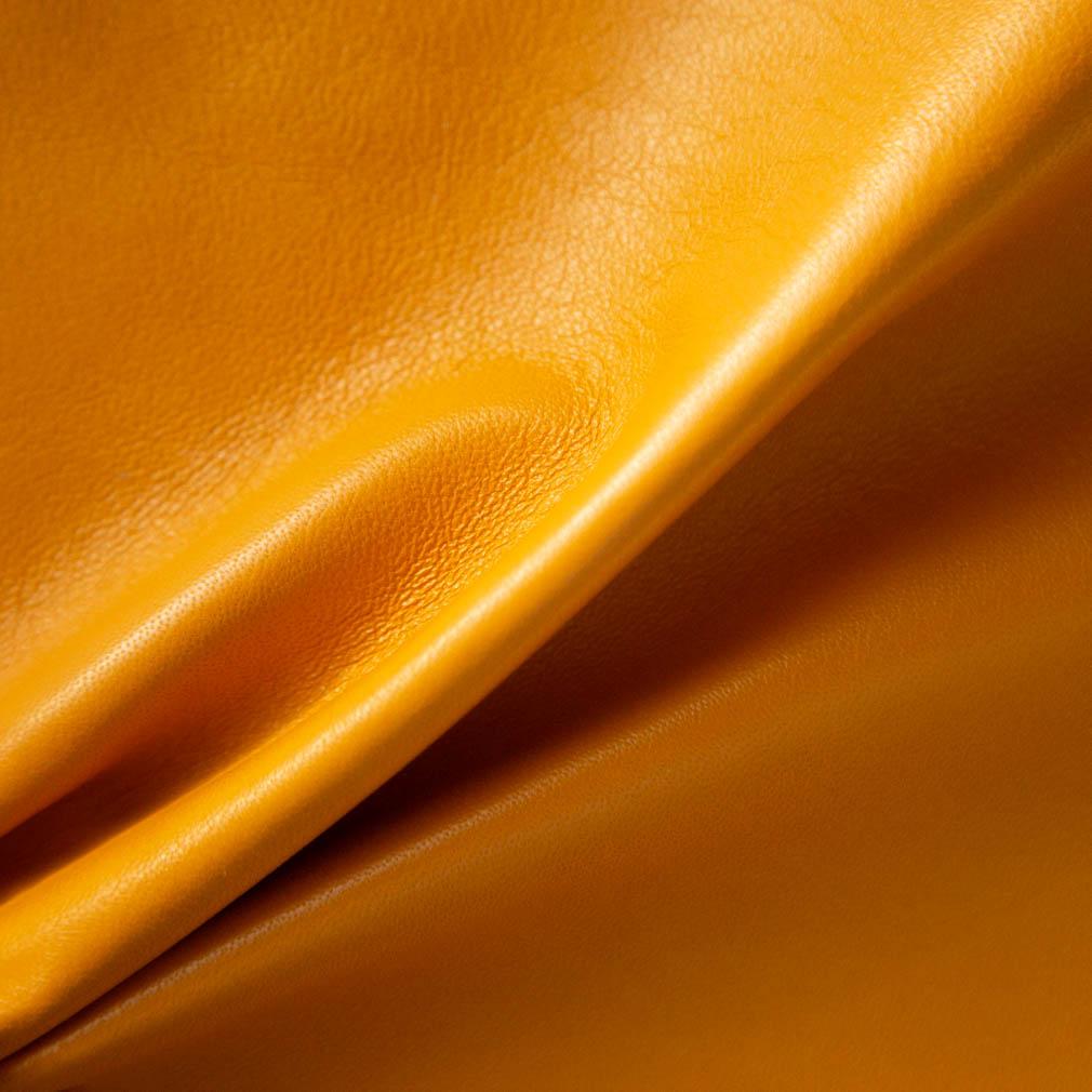 Hand-Bound Leather Quad - Light Orange - LDP-HB-RQ-LTO