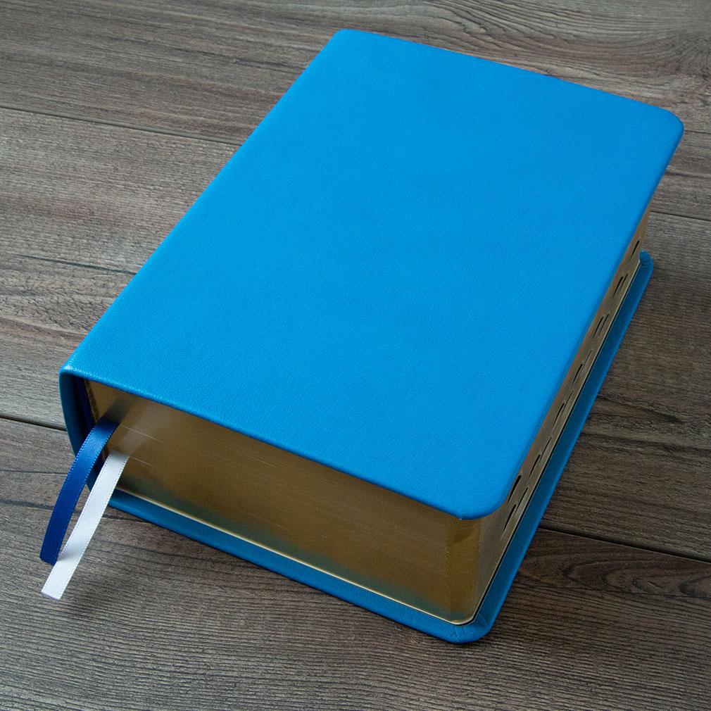 Hand-Bound Leather Quad - Aqua Blue - LDP-HB-RQ-ABL