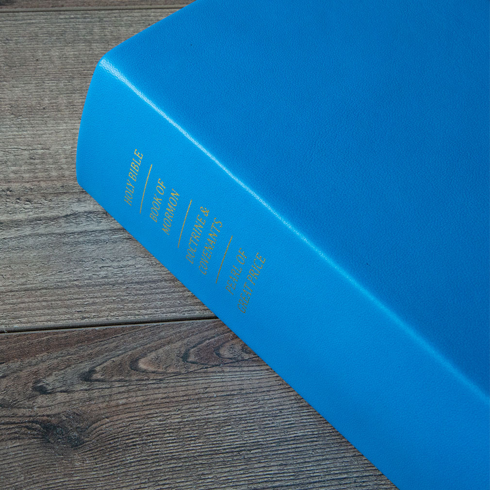 Hand-Bound Leather Triple - Aqua Blue - LDP-HB-RT-ABL