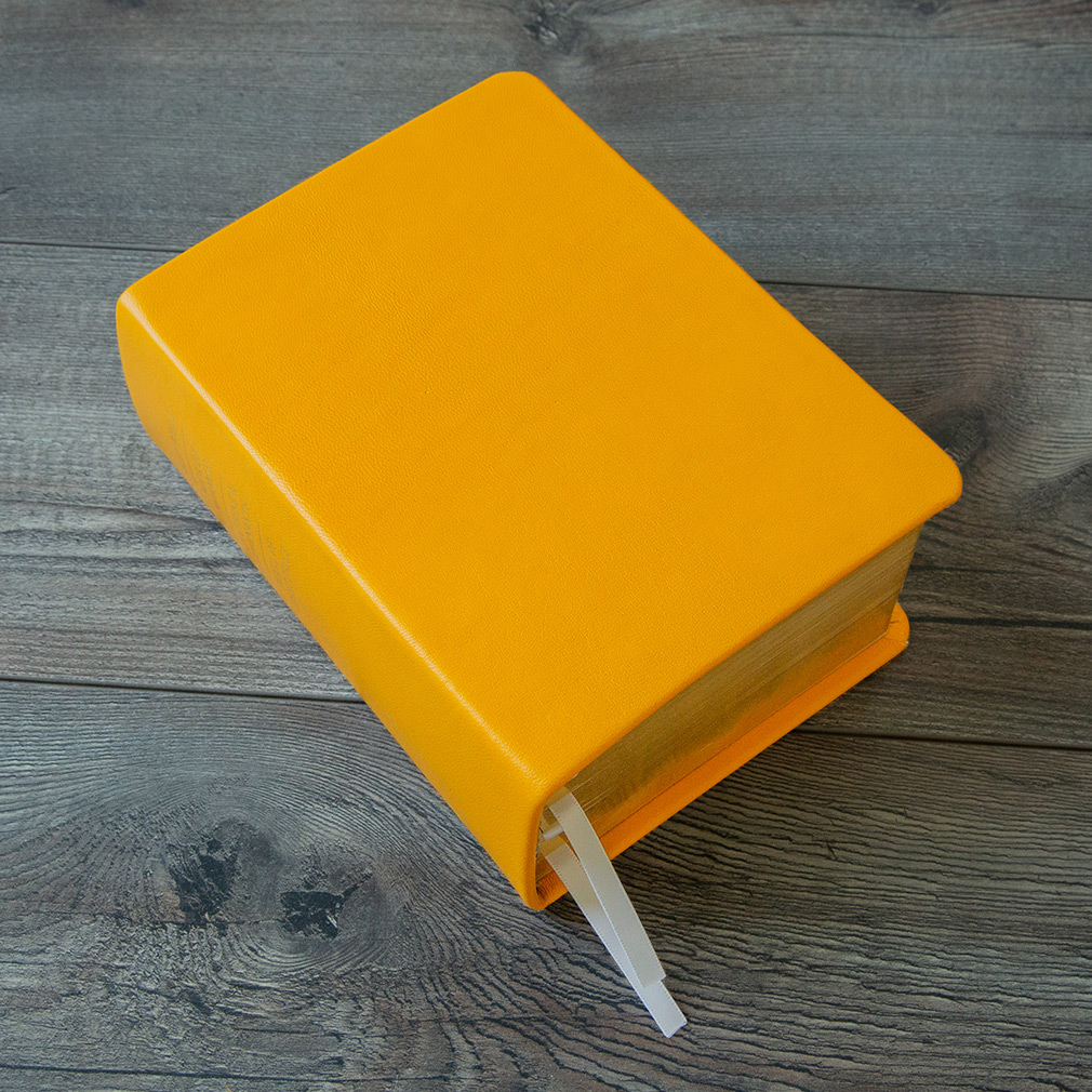Hand-Bound Leather Quad - Canary Yellow - LDP-HB-RQ-CNY