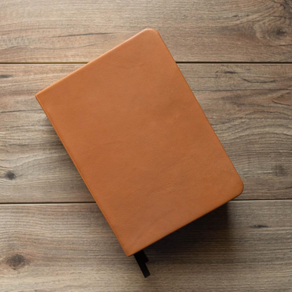 Hand-Bound Leather Quad - Caramel Brown - LDP-HB-RQ-CBR