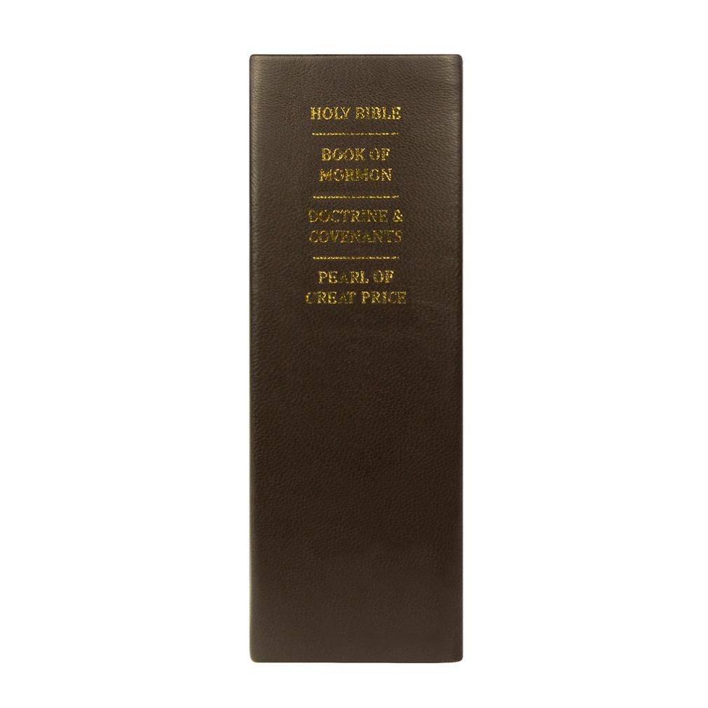Hand-Bound Leather Quad - Chocolate Brown - LDP-HB-RQ-CHOCBRWN
