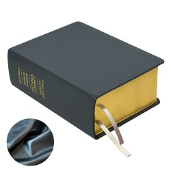 Hand-Bound Leather Quad - Pearlized Gunmetal gray lds scriptures, custom lds scriptures, gray lds scripture, silver quad, color quad scriptures, gray quad scriptures