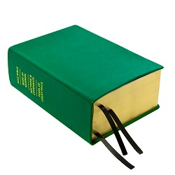 Hand-Bound Leather Quad - Kelly Green green lds scriptures, custom lds scriptures, green lds scripture, green quad,color quad scriptures,green quad scriptures