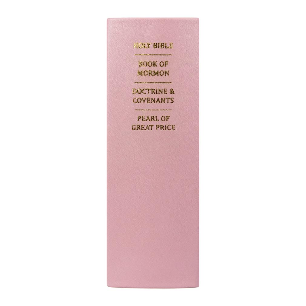 Hand-Bound Leather Quad - Blush Pink (OLD COLOR) - LDP-HBLQ-BLUSHPINK