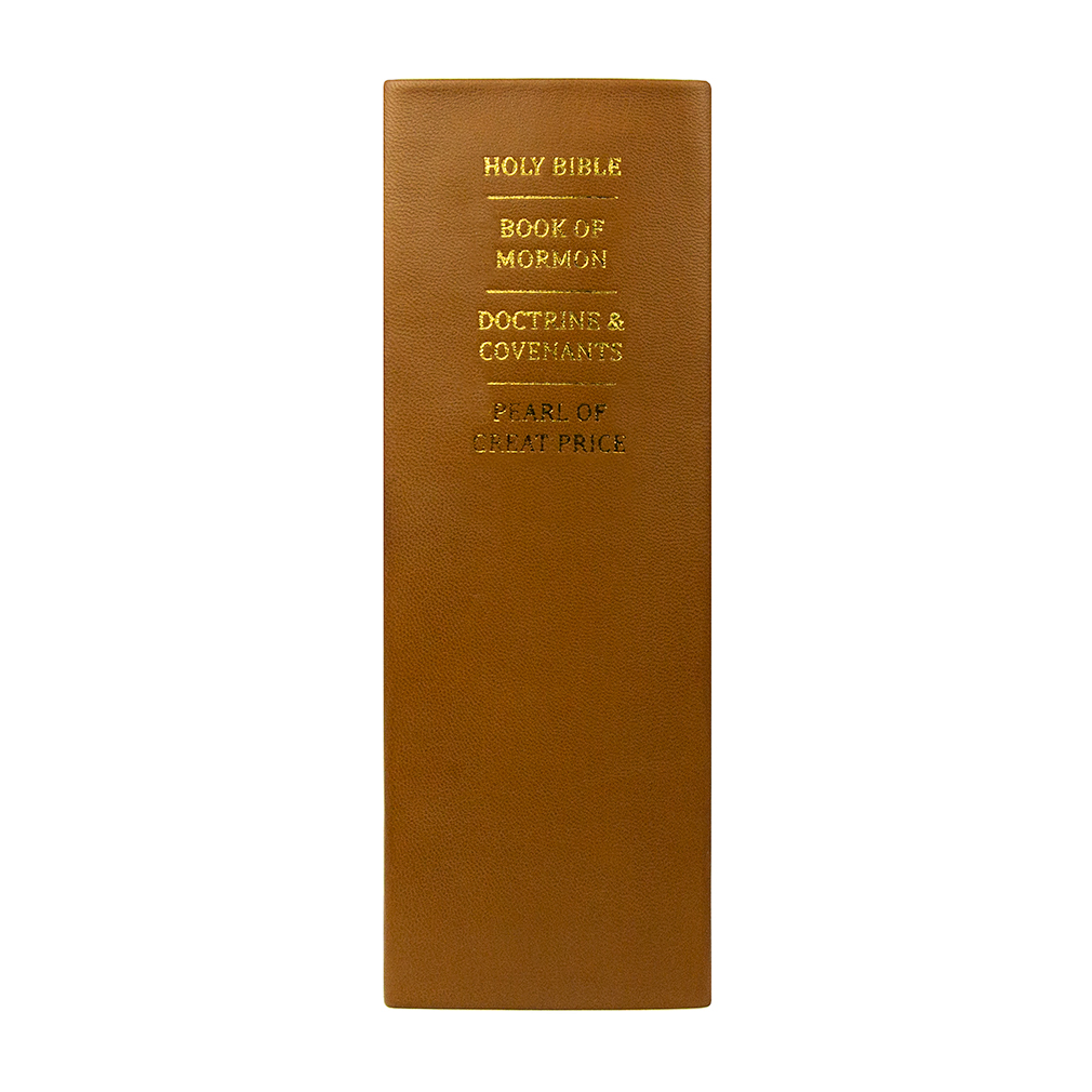 Hand-Bound Leather Quad - Caramel Brown - LDP-HBLQ-CARBROWN