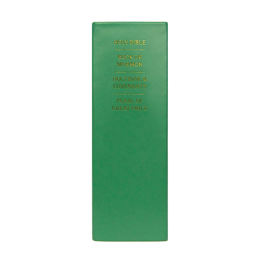 Hand-Bound Leather Quad - Emerald Green - LDP-HBLQ-EMGREEN