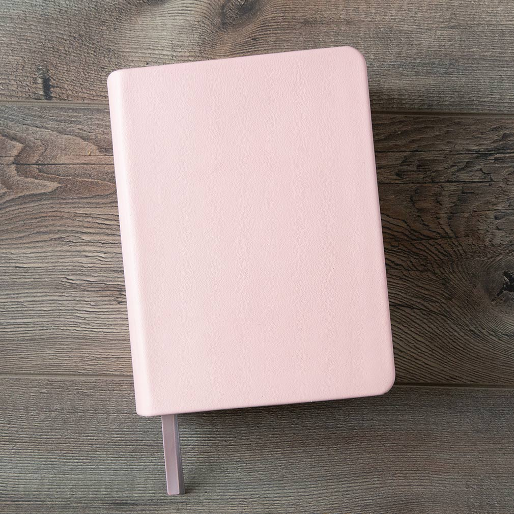 Hand-Bound Leather Quad - Light Pink - LDP-HB-RQ-LPK