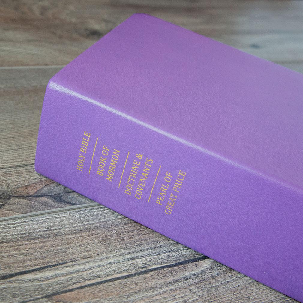 Hand-Bound Leather Quad - Lilac - LDP-HB-RQ-LLC
