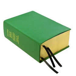 Hand-Bound Leather Quad - Shamrock Green green lds scriptures, custom lds scriptures, green lds scripture, green quad,color quad scriptures,green quad scriptures