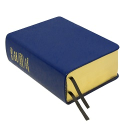 Hand-Bound Leather Quad - Medium Blue blue lds scriptures, custom lds scriptures, blue lds scripture, blue quad,color quad scriptures,blue quad scriptures