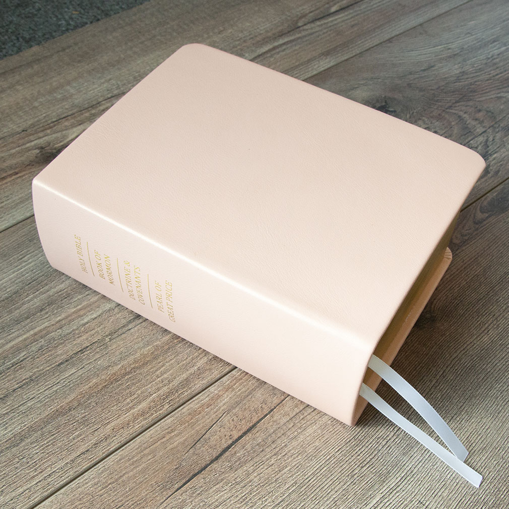 Hand-Bound Leather Quad - Pearlized Pink - LDP-HB-RQ-PZP