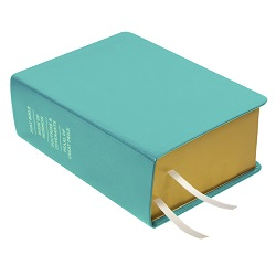 Hand-Bound Leather Quad - Teal Teal lds scriptures, custom lds scriptures, teal lds scripture, teal quad, color quad scriptures, teal quad scriptures