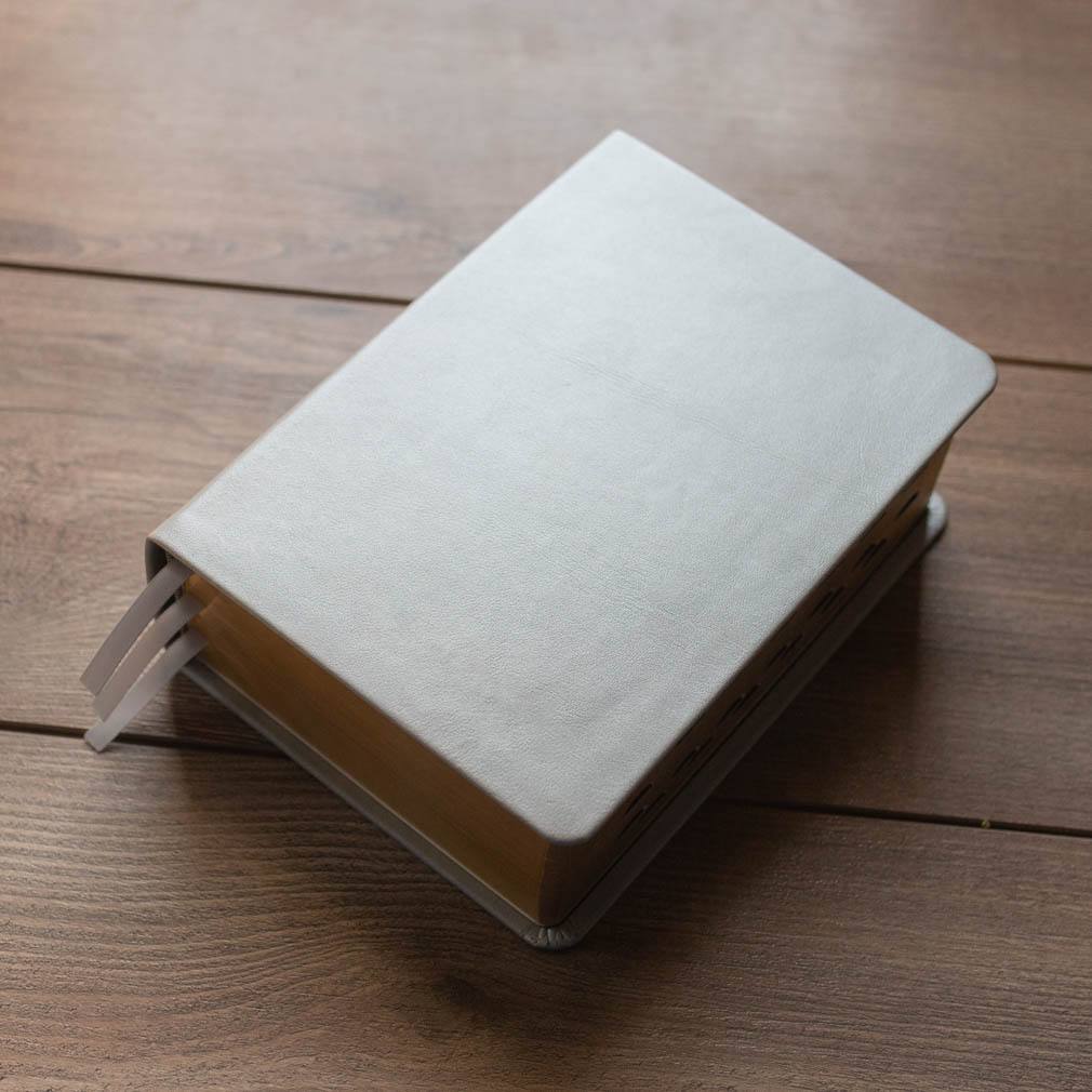 Hand-Bound Leather Quad - Pearlized Silver - LDP-HB-RQ-PZS