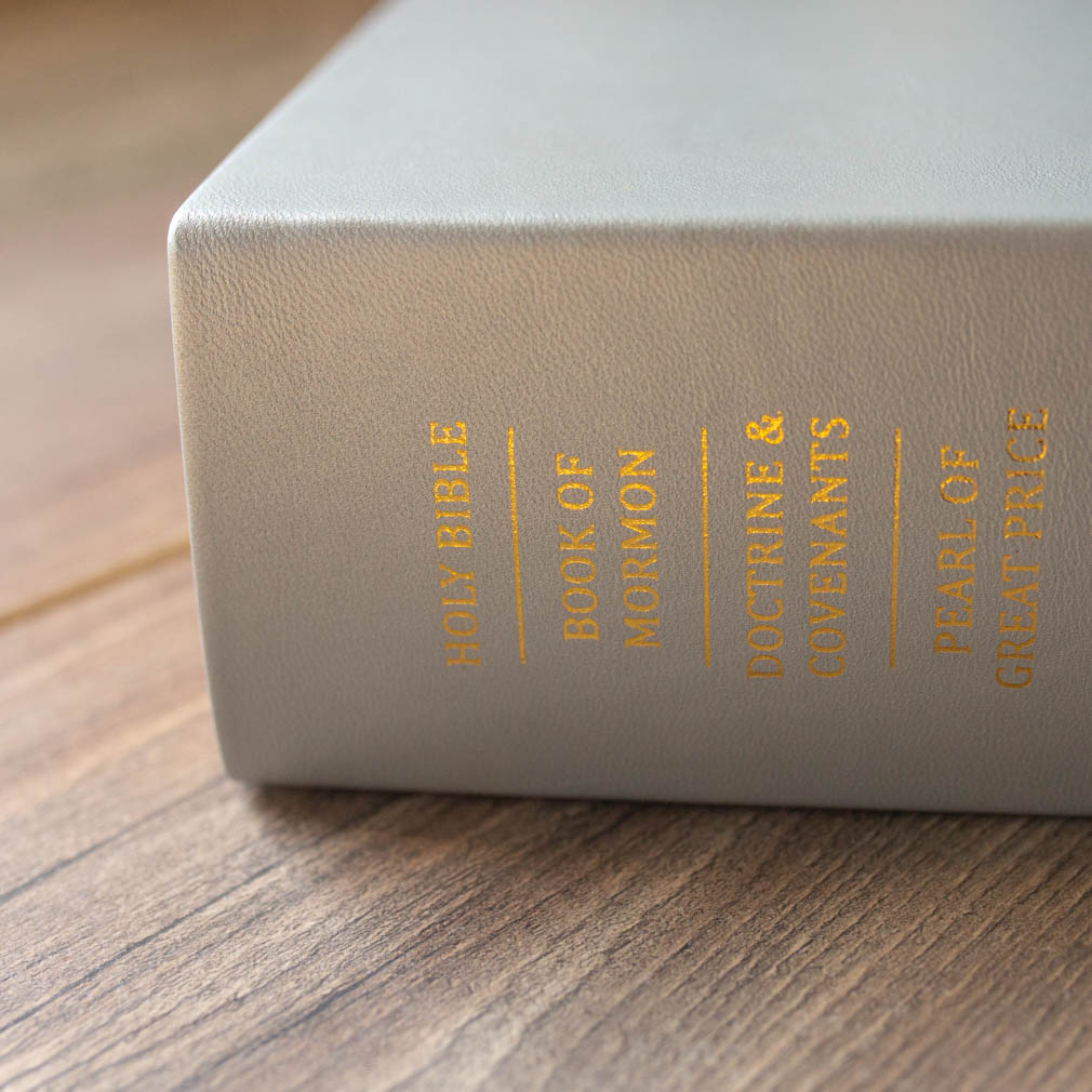 Large Hand-Bound Leather Quad - Pearlized Silver - LDP-HB-LQ-PZS