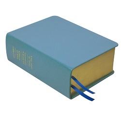 Hand-Bound Leather Quad - Sky Blue - LDP-HB-RQ-SBL