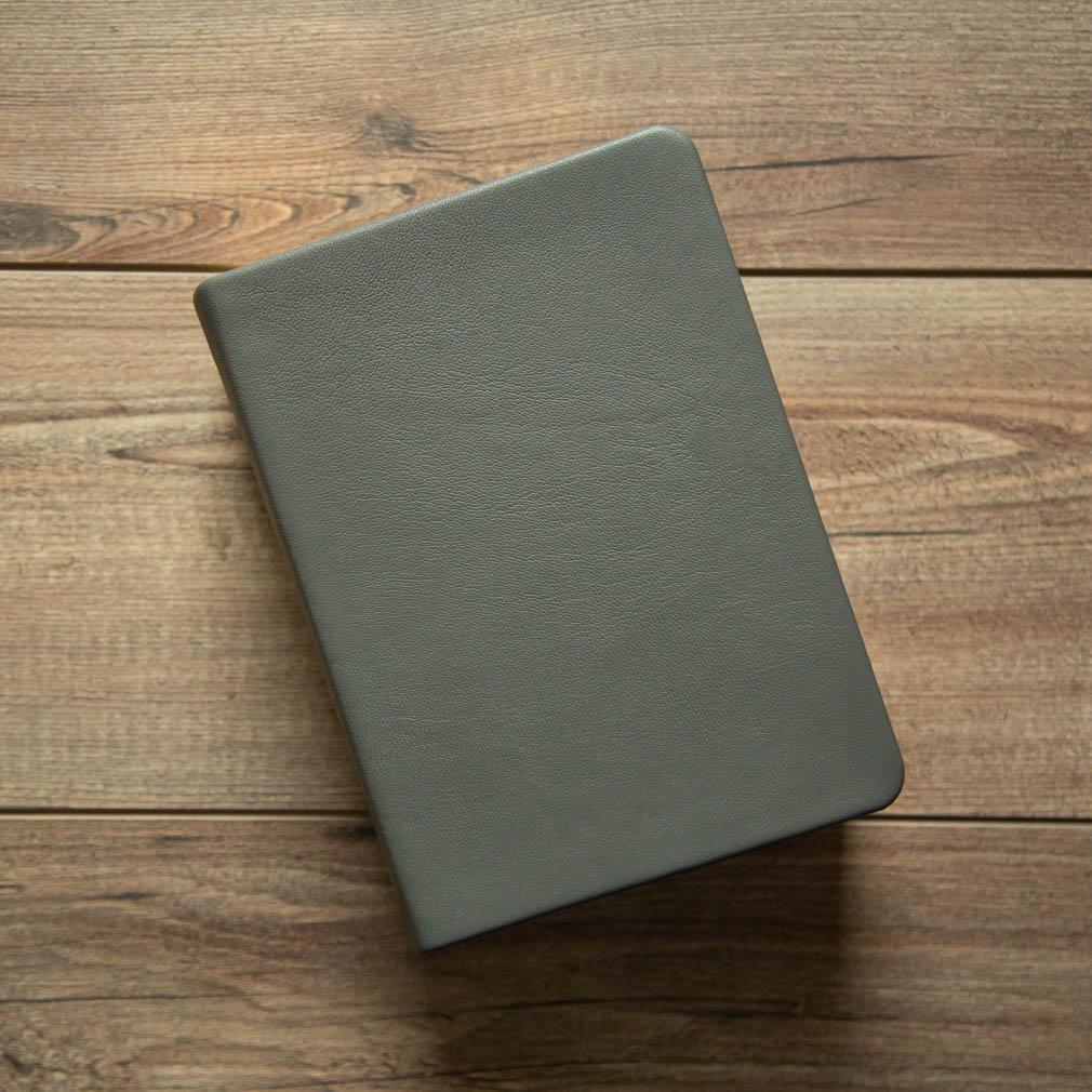 Hand-Bound Leather Quad - Steel Gray - LDP-HB-RQ-SGR