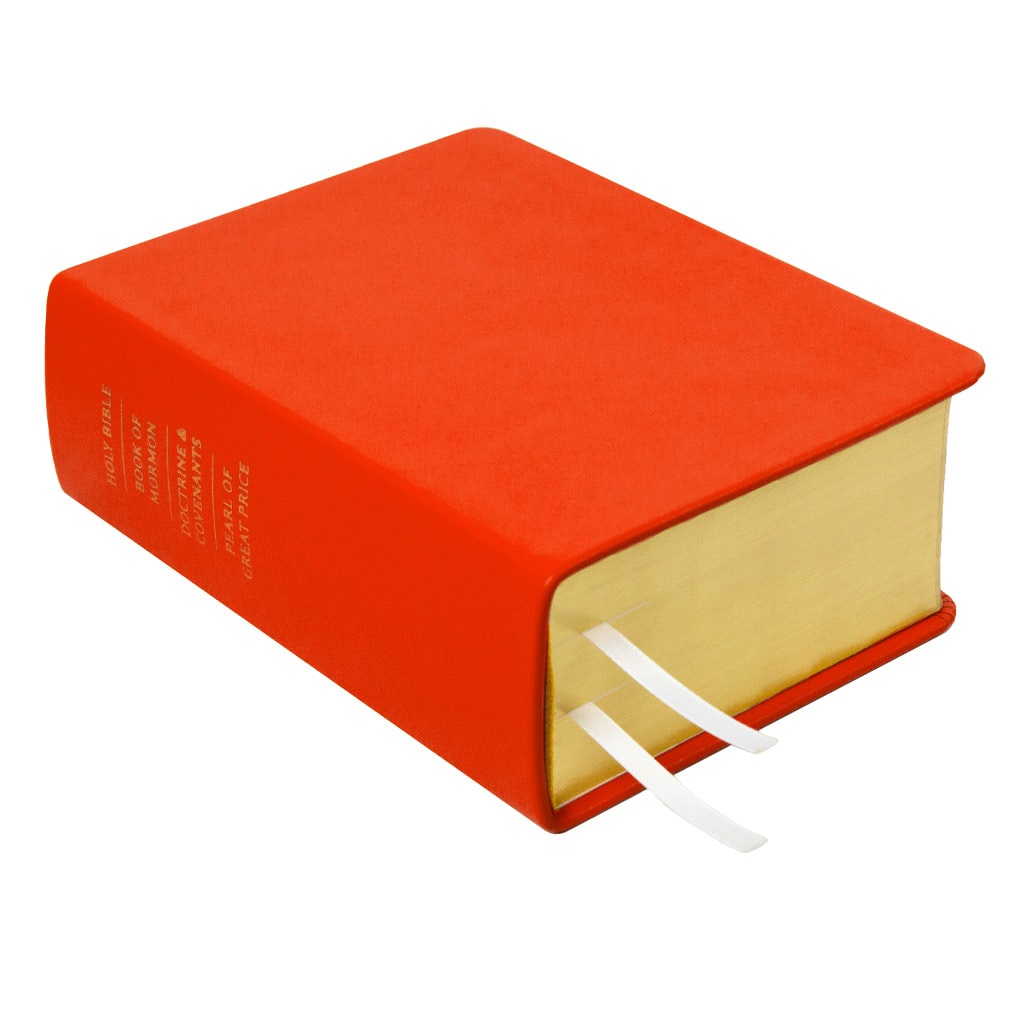 Hand-Bound Leather Quad - Tangerine Orange - LDP-HBLQ-TAN-ORANGE