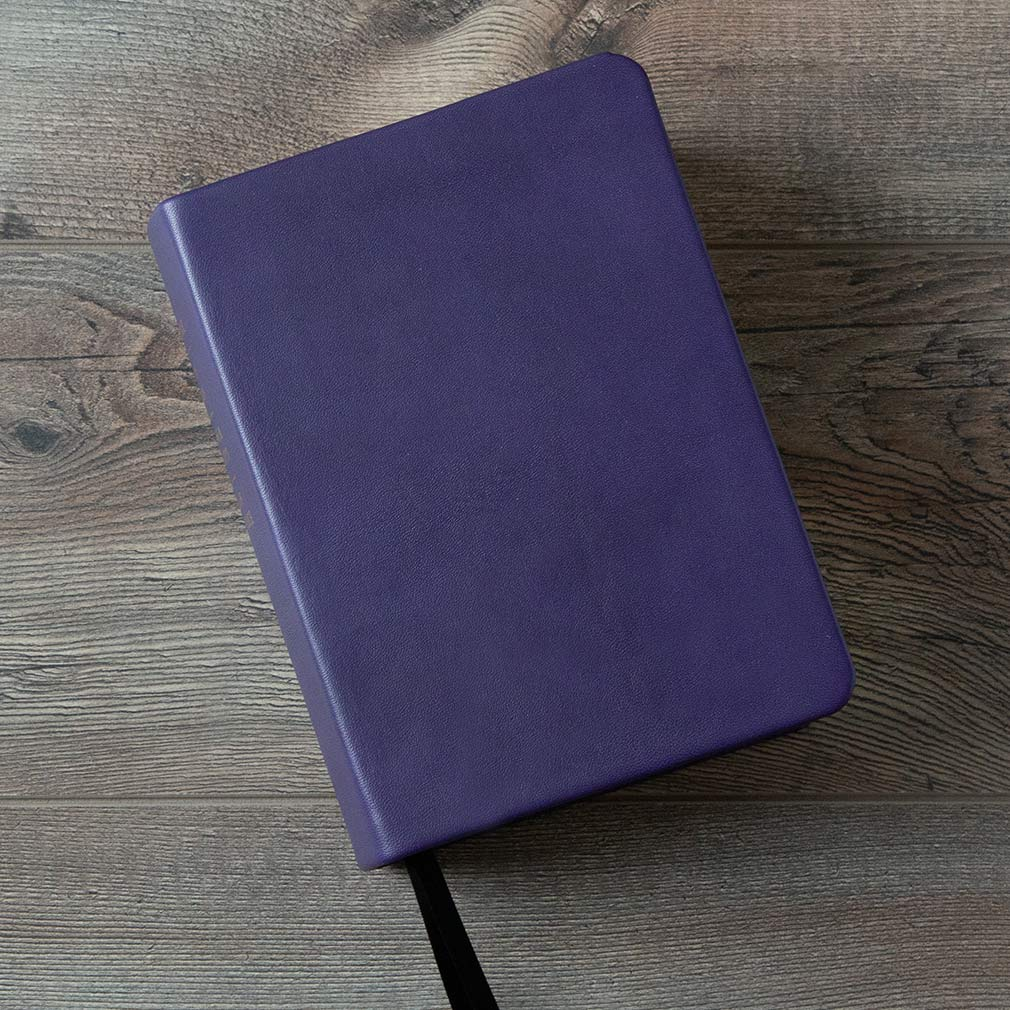 Large Hand-Bound Leather Quad - Violet - LDP-HB-LQ-VLT