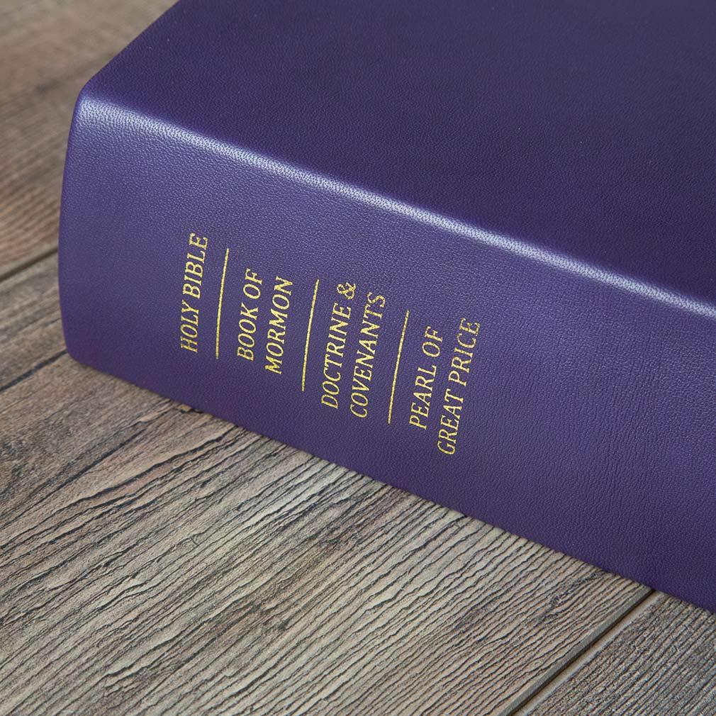 Hand-Bound Leather Quad - Violet - LDP-HBLQ-VIOLET