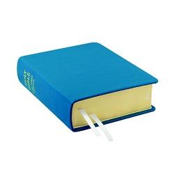Hand-Bound Leather Bible - Aqua Blue blue lds scriptures, custom lds scriptures, blue lds scripture, blue Bible combination,color Bible combination scriptures,blue Bible combination scriptures