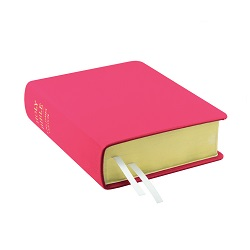 Hand-Bound Leather Bible - Bright Fuchsia pink lds scriptures, custom lds scriptures, pink lds scripture, pink Bible combination,color Bible combination scriptures,pink Bible combination scriptures
