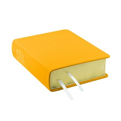 Hand-Bound Leather Bible - Canary Yellow yellow lds scriptures, custom lds scriptures, yellow lds scripture, yellow Bible combination, mustard lds scriptures,color Bible combination scriptures,yellow Bible combination scriptures