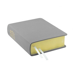 Hand-Bound Leather Bible - Light Gray gray lds scriptures, custom lds scriptures, gray lds scripture, gray Bible combination, gray lds scriptures,color Bible combination scriptures,gray Bible combination scriptures