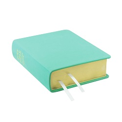 Hand-Bound Leather Bible - Light Turquoise turquoise scriptures, teal lds scriptures, custom lds scriptures, teal lds scripture, teal Bible combination, color Bible combination scriptures, teal Bible combination scriptures