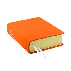 Hand-Bound Leather Bible - Marigold Orange orange lds scriptures, custom lds scriptures, orange lds scripture, orange Bible combination,color Bible combination scriptures,orange Bible combination scriptures