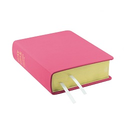 Hand-Bound Leather Bible - Pink - LDP-HB-RB-PNK