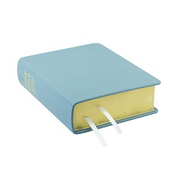Hand-Bound Leather Bible - Sky Blue blue lds scriptures, custom lds scriptures, blue lds scripture, blue Bible combination,color Bible combination scriptures,blue Bible combination scriptures