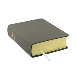 Hand-Bound Leather Bible - Steel Gray gray lds scriptures, custom lds scriptures, gray lds scripture, gray Bible combination, gray lds scriptures,color Bible combination scriptures,gray Bible combination scriptures
