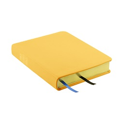 Hand-Bound Leather Triple - Buttercup Yellow yellow lds scriptures, custom lds scriptures, yellow lds scripture, yellow triple combination, mustard lds scriptures,color triple combination scriptures,yellow triple combination scriptures